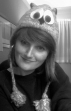 Caroline Posynick as an owl ha