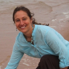 Leah touching the Niger River in Niger