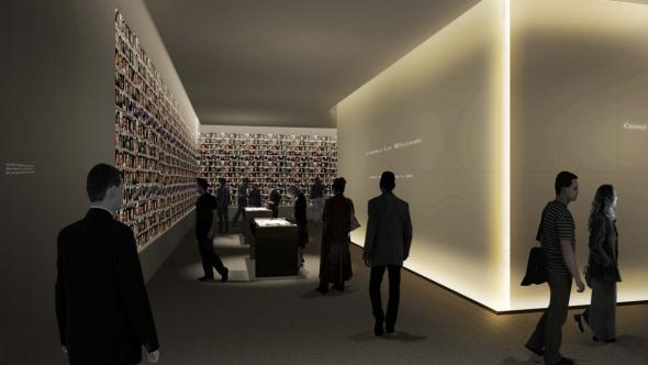 """In Memoriam: A Memorial Exhibition."" Rendering by Squared Design Lab (http://squareddesignlab.com/) via The National September 11 Memorial and Museum (http://www.911memorial.org/museum)"