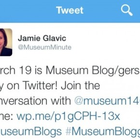 March 19 is Museum Blog/gers Day on Twitter!