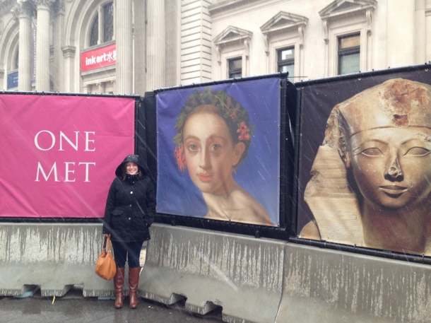 Well, the weather was lovely minus the 15 minutes of snowfall/rain while waiting to enter the Met.