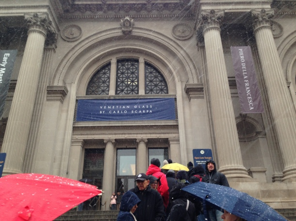 ...minus the 15 minutes of snow/rain while waiting to enter the Met.