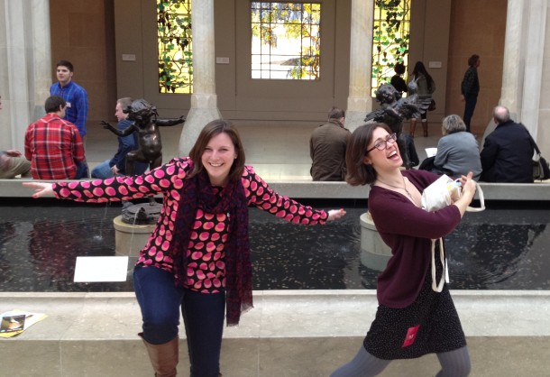 Me and Jen goofing around at the Met or mimicking the statues behind us...you decide.